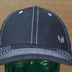 Black Bunnings Hat with Chrome emblem